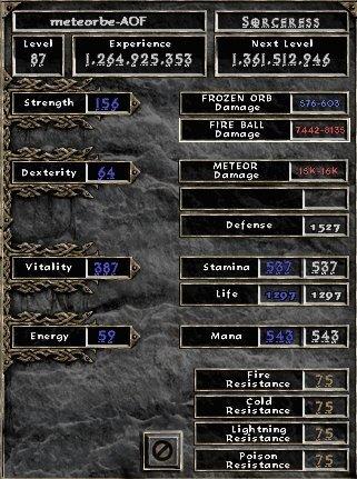 [guide] La sorciere full Tal Rasha Meteorb-stats
