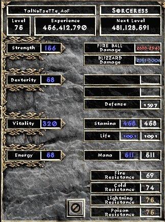 [guide] La sorciere full Tal Rasha Stats